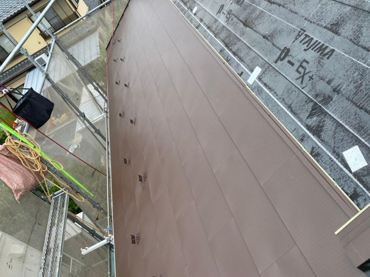 加須市屋根工事 葺き上げ