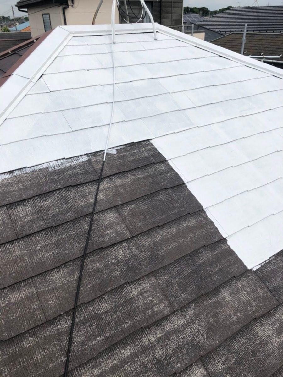 上尾市屋根塗装 下塗り