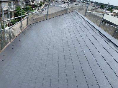 上尾市屋根外壁塗装 屋根塗装完了1