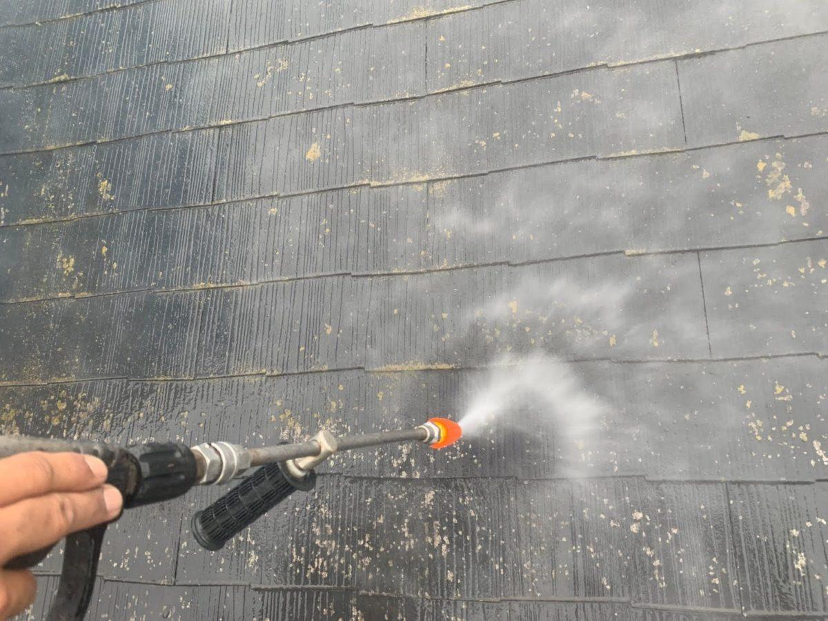 上尾市屋根外壁塗装 高圧洗浄