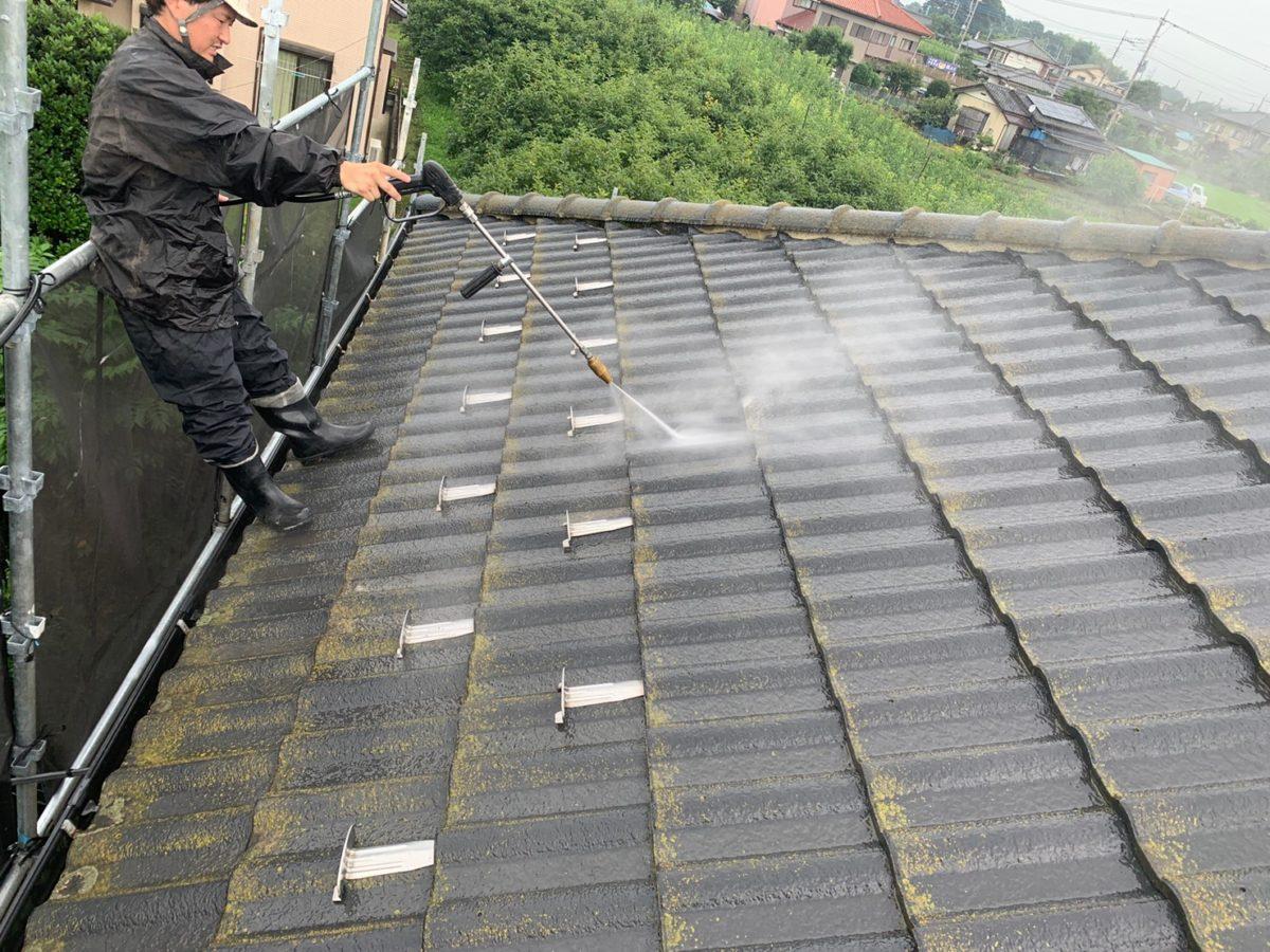 蓮田市屋根外壁塗装洗浄