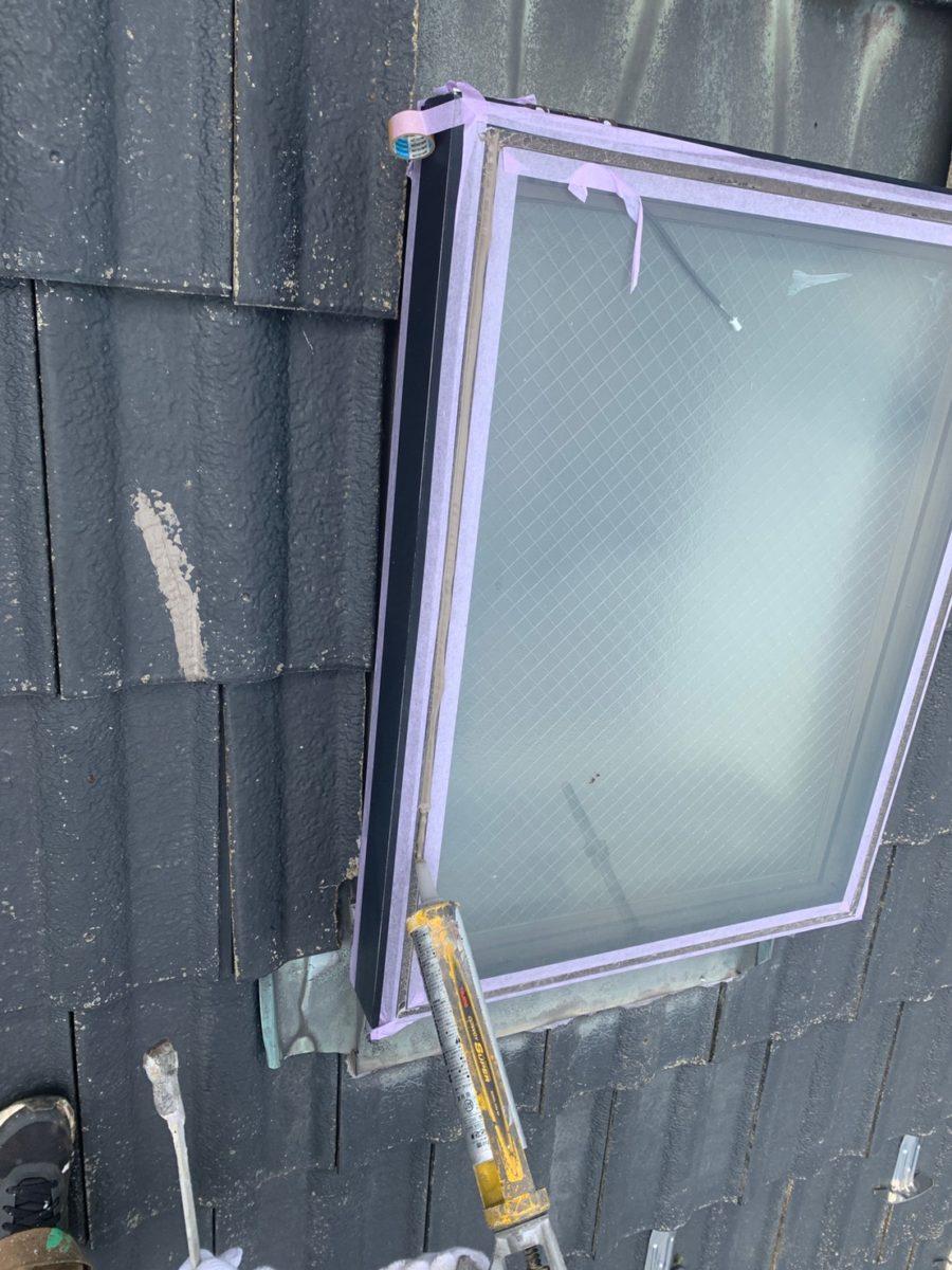 蓮田市屋根外壁塗装トップライトシーリング