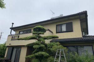 蓮田市屋根外壁塗装施工前