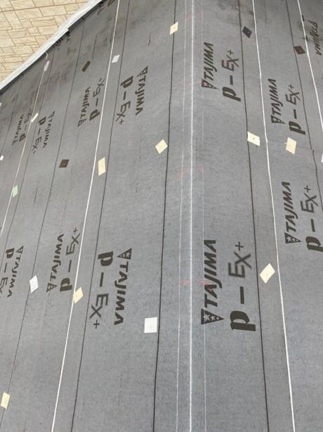 久喜市 屋根カバー工事 防水シート設置