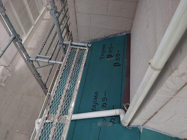 上尾市 屋根カバー工事 防水シート設置