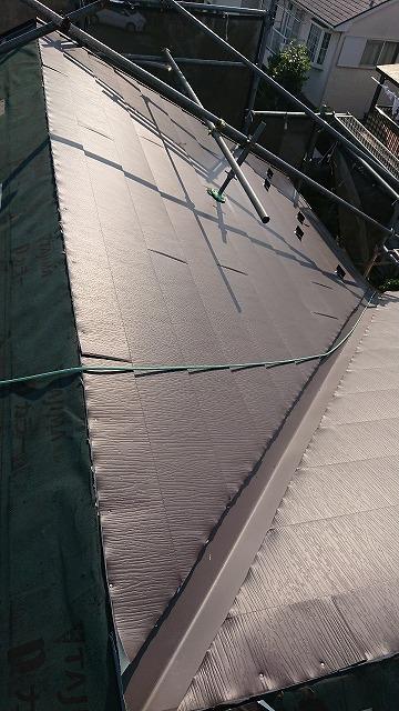 さいたま市桜区 屋根カバー工事 ガルテクト設置2