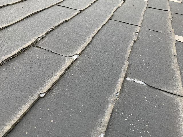 さいたま市桜区 パミール屋根 スレート屋根剥離、欠け