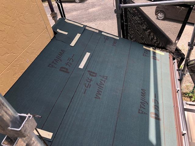 さいたま市桜区 屋根カバー工事 防水シート設置